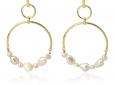 JuwElle Anartxy pearls-hoops-bpe100