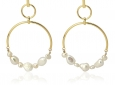 JuwElle Axnarty pearls-hoops-bpe100
